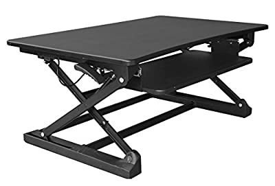 xec-FIT 2-Tier Height Adjustable Sit to Stand Desk Spring Riser Converter