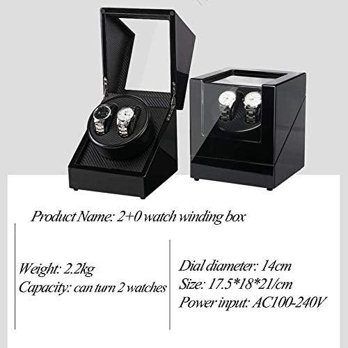 Nuokix Winding Box Muto Display Stand automatico for 2 orologi Guarda scatole Presente