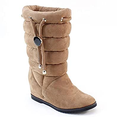 Amazon.com   Master New Women's Comfort Wide Calf Flat