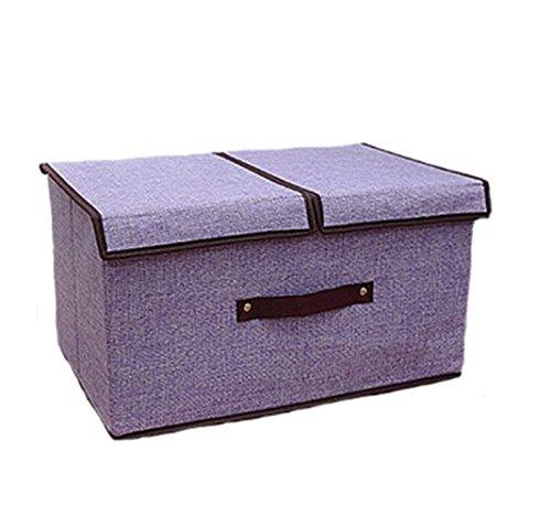 Storage boxes Plegable Ropa Caja de almacenaje Caja de Juguetes Cabernet Caja de almacenaje Doble Caja de Almacenamiento con Tapa, Morado, 45 * 30 * 25cm: Amazon.es: Hogar