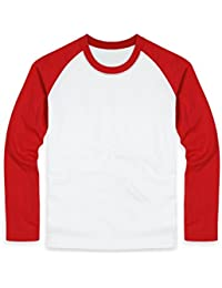 Unisex Casual Long Sleeve Raglan Baseball T-Shirt For Men and Women