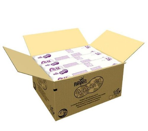 Pampers Activo Fit Pañales (talla 4 maxi: 7 - 18 kg) - 1 economía paquete de 168 Pañales + 2 años de garantía: Amazon.es: Hogar