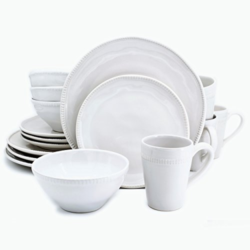 Euro Ceramica Algarve Collection Artisan-Inspired 16 Piece S