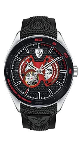 Scuderia Ferrari Gran Premio Analog Black Dial Men #39;s Watch   0830348