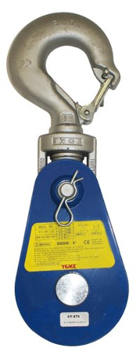 BA Products 6Y-8T8 Snatch Block with Latching Hook, 8 ton Load Capacity, 8'' Sheave