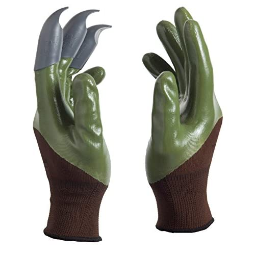 Cat Paw Gardening Gloves for Digging & Planting - No More Worn Out Fingertips - Claws on LEFT Hand of pair - Mens & Womens gardening gloves supplier