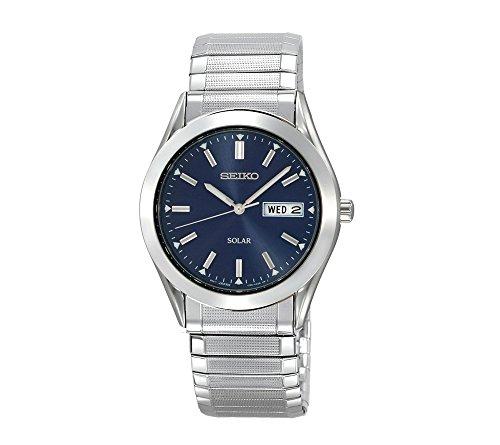Seiko-Mens-Silvertone-Blue-Dial-Solar-Watch