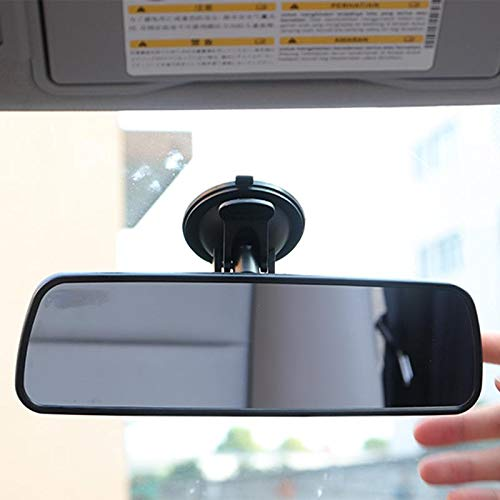 Universal Black Car Truck Mirror Interior Rear View Mirror with Suction Cup Rearview Mirror