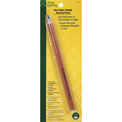 Dritz 3077 Quilting Water Soluble Marking Pencil, Blue