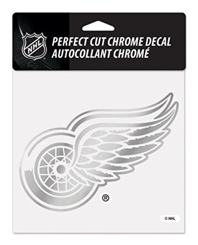 NHL Detroit Red Wings Officially Licensed 6x6 Perfect Cut Chrome Decal