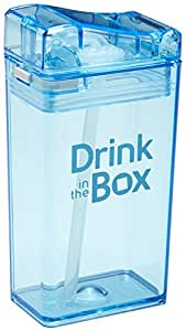 Drink in the Box Eco-Friendly Reusable Drink and Juice Box Container by Precidio Design, 8oz (Blue)