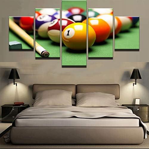 mmwin 5 Panel Color Billar Lienzo Decoración para el hogar para Sala de Estar Impreso Cartel Moderno Arte de la Pared Decoración Imágenes Obra de Arte: Amazon.es: Hogar