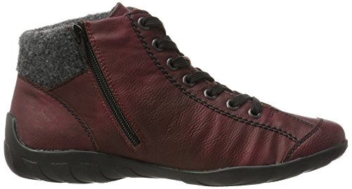 EU Hautes Rieker Anthrazit Sneakers Femme L6544 Wina Wine 36 1w6wq8U