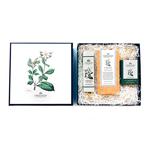 (Caswell-Massey Gardenia Set with Eau de Toilette Perfume, Hand Cream and Triple Milled Soap - NYBG Luxury)