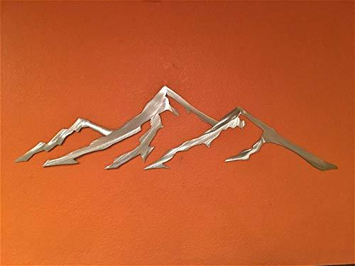 Quandary Peak Summit Colorado Metal Mountain Range Wall Art Contemporary Silver Gray Home - Silver Range Sealed