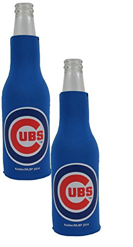 (Official Major League Baseball Fan Shop Authentic MLB 2-Pack Insulated Bottle Cooler Bundle. Show Team Pride at Home, Tailgating or at The Game (Chicago Cubs))