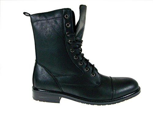 Men's Polar Fox 801026 Tall Military Style Lace Up Combat Fashion Dress Boots