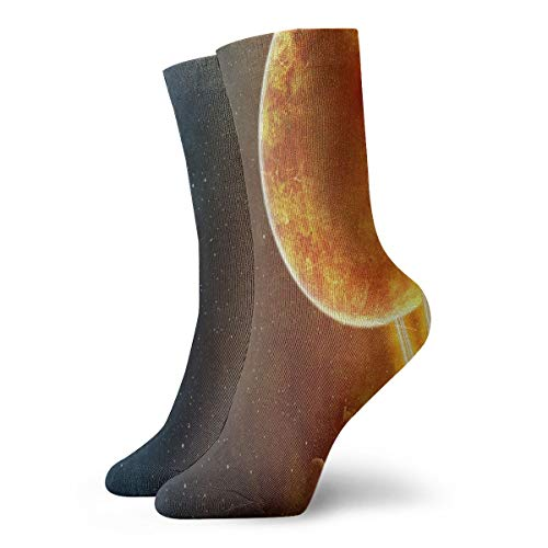 Crew Socks Outer Space Galaxy Stars Amazing Mens Casual Stocking Decor Sock Clearance for Woman ()