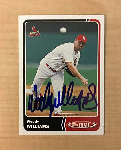 WOODY WILLIAMS ST. LOUIS CARDINALS SIGNED 2003 TOPPS TOTAL CARD #249 W/COA ()
