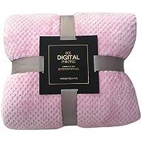 Amoustore Fleece Luxury Throw Blanket (45 x 65cm/17.7X 25.5inch, Pink)