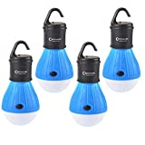 4 Pack Portable LED Tent Lamp Outdoor Flashlight Water Resistant Camping Lantern for Indoor and Outdoor,Camping,Hiking,Fishing,Decoration,Gift.(Batteries Not Included)