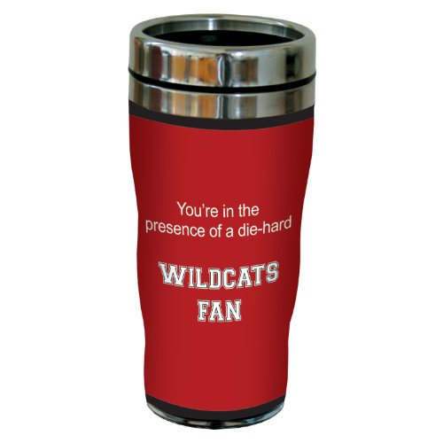 Tree-Free Greetings sg24420 Wildcats College Football Fan Sip 'N Go Stainless Steel Lined Travel Tumbler, 16-Ounce