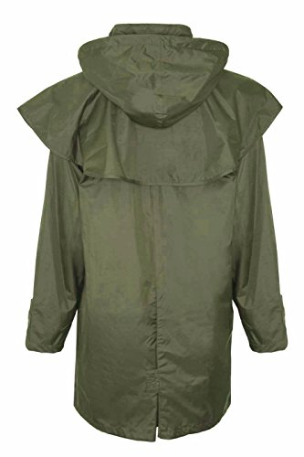 Rain Long Country Riding Jacket Olive Coat Ladies Length Full Waterproof Cape O6qEPWA