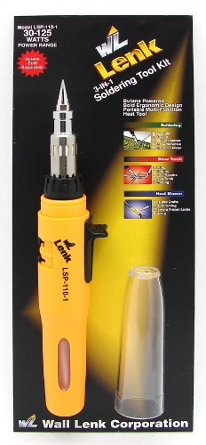 Wall Lenk LSP-110-1 SOLDERPRO 110 3-in-1 Auto Ignition Soldering Iron & Blow Torch
