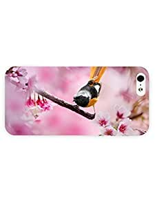 3d Full Wrap Case for iPhone 5/5s Animal Bird With Yellow Tail