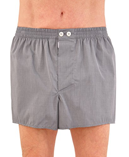 World's Finest Woven Boxer Shorts - 3 Pairs X-Large/Charcoal Grey by Kabbaz-Kelly