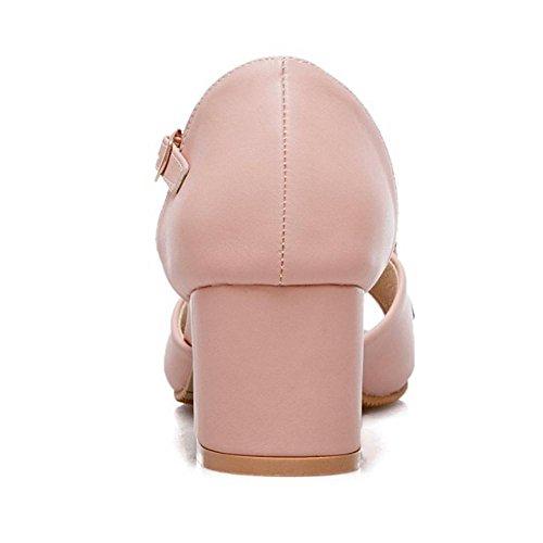 Toe Femmes Talons Bloc 5 Sandales Peep RAZAMAZA Plateforme Pink pfdqPxZfwE