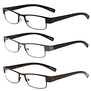 Zhhlinyuan 3X Men Women Eyewear Reading Glasses Reader Choose Your Magnification
