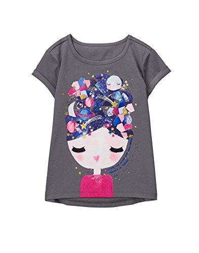 s' Tunic Graphic Tee, Gray Face, S (Tunic Graphic T-shirt)