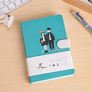 Precioso cuaderno Kawaii 365 Bucket Lista de deseos Libros