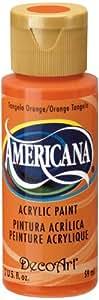 DecoArt Americana Acrylic Paint, 2-Ounce, Tangelo Orange