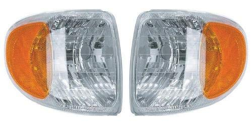 (Go-Parts PAIR/SET - Compatible 1998-2001 Mercury Mountaineer Corner Lights - Left & Right (Driver & Passenger) FO2521160 FO2520160 F87Z 13200 AB F87Z 13201 AB)