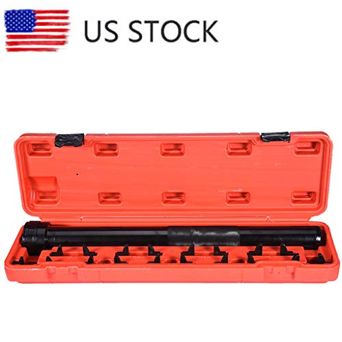 Sodoop Inner Tier Rod Tool, Adjustable Inner Tie Rod Tool Installer Long Docket Removal 9 Crews Feet Wrench Tool Kit with Carry Case for Auto Car Truck (Ship from USA)