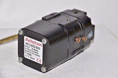 4-20 mA I to P; 3-15 PSI Bellofram 961-070-000 Pressure Transmitter