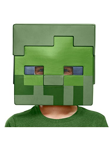 Creeper Mask Minecraft - Disguise Zombie Costume Mask, One Size