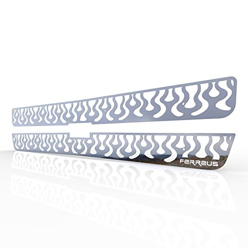 Ferreus Industries Grille Insert Guard Vertical Flame Polished Stainless fits 2000-2006 Chevy Suburban TRK-106-06-Chrome-b