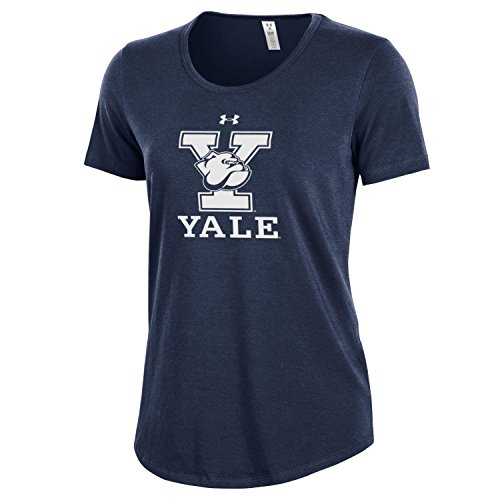 Bulldogs Tee Pack - Under Armour NCAA Yale Bulldogs Women's Short Sleeve Charged Cotton Tee, X-Large, Navy