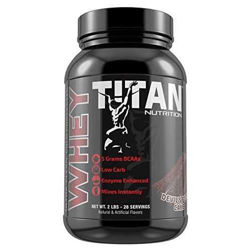 Cheap Titan Premium Whey Protein (Devils Food Cake, 2 lb)