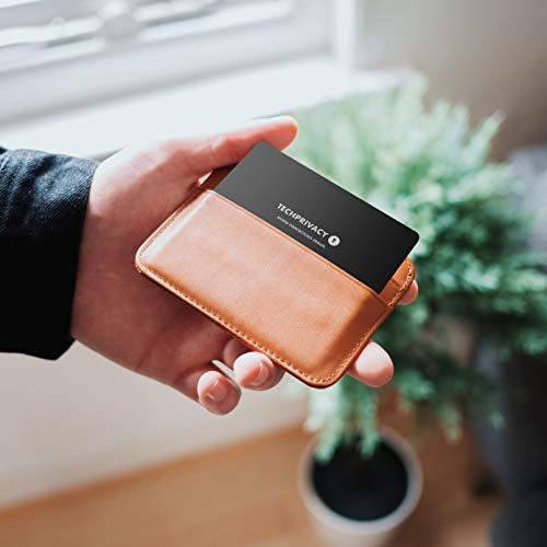 Funda Bloqueadora para Tarjetas RFID Contactless de TechPrivacy. Ideal para Carteras y Portatarjetas. Protege tu Tarjeta de Débito y Crédito contra el ...