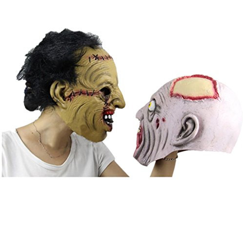 [Halloween Mask! Elevin(TM)2016 New Adult Costume Masquerade Face Party Cosplay Carnival Fancy Mask Disgusting Face Zombies Mask Terror Witch Head Mask] (Hanging Slashing Zombie)