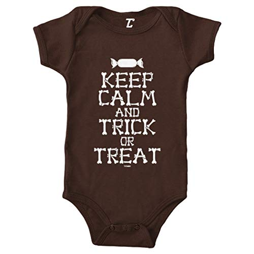 Keep Calm and Trick Or Treat - Halloween Bodysuit (Brown, Newborn) ()