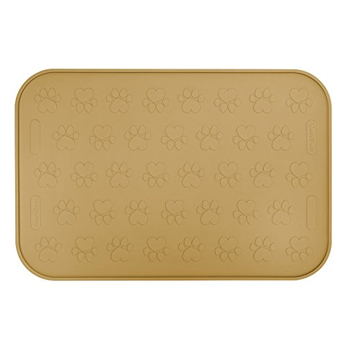 SmithBuilt 19″ x 12″ Dog Food Mat – Waterproof Non-Slip FDA-Grade Silicone Cat Pet Bowl Feeding Placemat