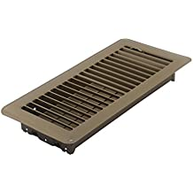 Accord ABFRBR410 Floor Register with Louvered Design, 4-Inch x 10-Inch(Duct Opening Measurements), Brown