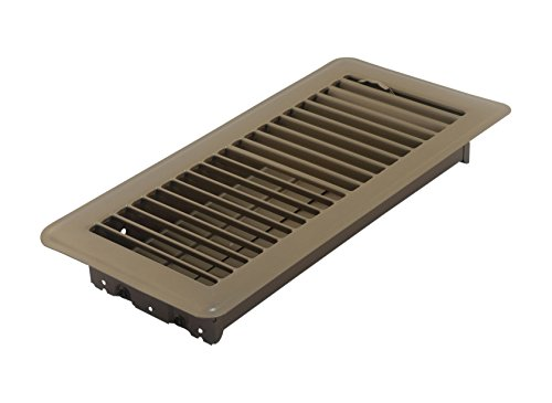 or Register with Louvered Design, 4-Inch x 10-Inch(Duct Opening Measurements), Brown ()