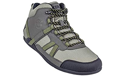Xero Shoes DayLite Hiker - Women's Barefoot-Inspired Minimalist Lightweight Hiking Boot - Zero Drop Trail Shoe - Olive