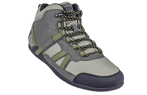 Xero Shoes DayLite Hiker - Men's Barefoot-Inspired Minimalist Lightweight Hiking Boot - Zero Drop Trail Shoe - Olive ()